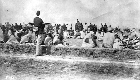 Navajo Indian's Long Walk