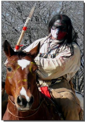 Apache Warrior on horse